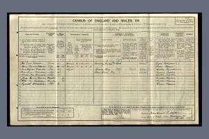 1911 Census - 2 Dorset Villas, Merton