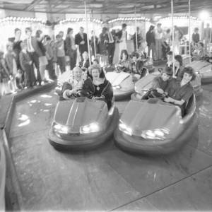 Dodgem cars, May Fair, Hereford in 1975.