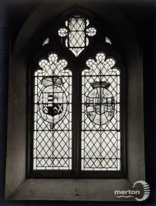 St. Mary's Church, glass window,  Wimbledon