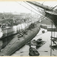 Submarine in Dock