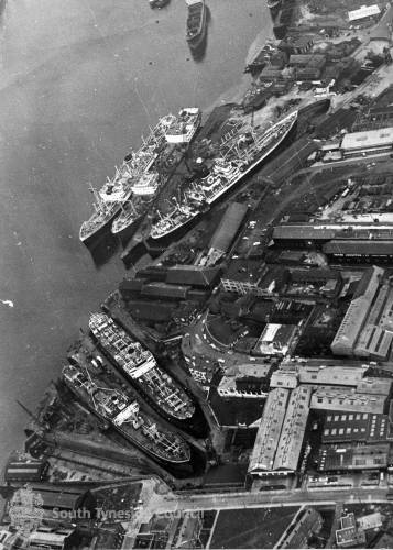 Aerial View of Middle Docks