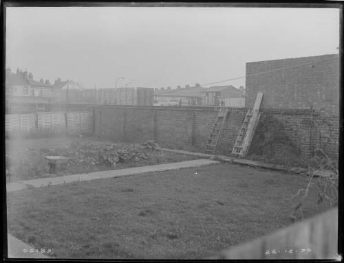 "24"" Merton to Croydon main, Bond Road school boundary wall at rear of playing field"