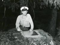 John Carter's grave on Vancouver Island 1957