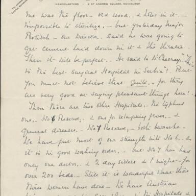 Elsie Inglis to Amy Inglis Simson, May 1915 (Part 6)