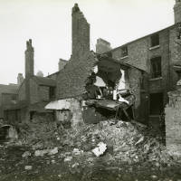 Balliol Road, bomb damage, Blitz