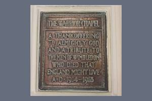 Warrior Chapel Plaque, St. Mary's Church, Wimbledon
