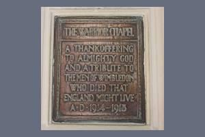 Warrior Chapel Plaque, St. Mary's Church, Wimbledon