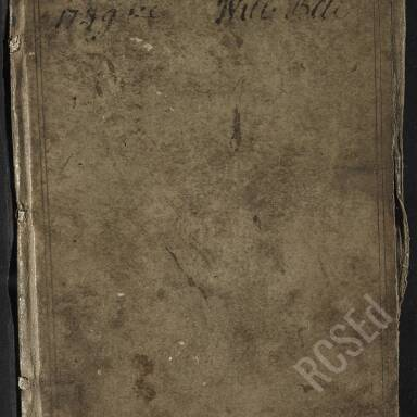 William Bell Memorandum Book, 1749