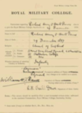 RMC Form 18A Personal Detail Sheets Jan 1915 Intake - page 103