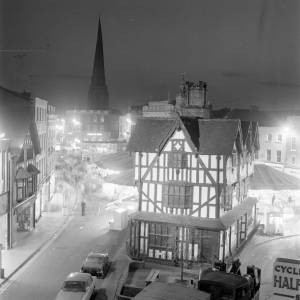 Hereford May Fair in High Town at Night, 7 May 1970