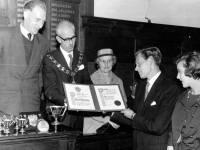 Presentation to Brian Hewson, at Mitcham Town Hall.