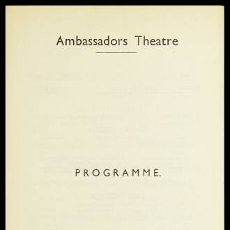 Ambassadors Theatre, London, January 1941