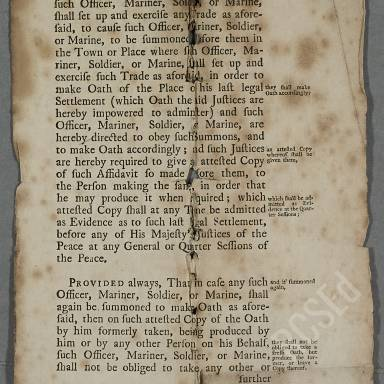 Act Concerning Officers, Mariners and Soldiers (Part 4)