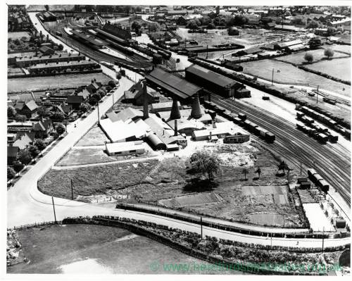 Barrs Court Railway Station, Hereford, aerial view, 1933