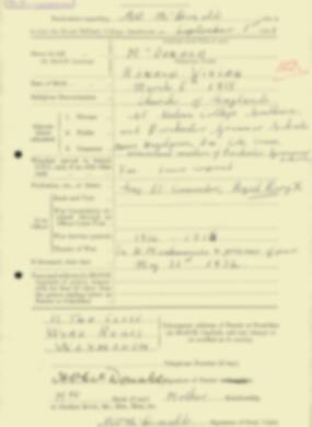 RMC Form 18A Personal Detail Sheets Feb & Sept 1933 Intake - page 239