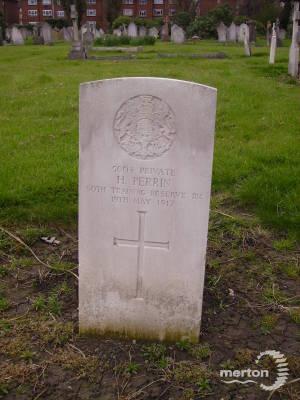 Gravestone of Herbert Perrin