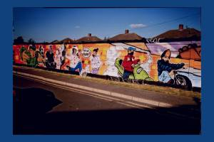 Laburnum Road, Colliers Wood: Children's mural