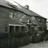 Wood Avenue, bomb damage, Blitz