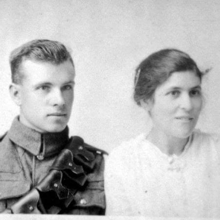Wedding Photo of Archie Mountfort Wood and Ellen Levins