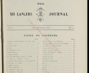 12th Lancers, 1929 November
