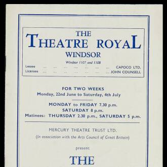 Theatre Royal, Windsor, June–July 1953