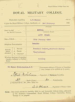 RMC Form 18A Personal Detail Sheets Feb & Sept 1922 Intake - page 47
