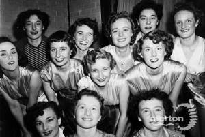 Stepping Out Company appearance at a Girls Training Corps concert