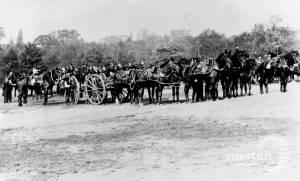 The King's Hussars on Wimbledon Common