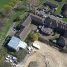 2019 04 April Aerial View of Construction of All Saints View 7 Houghton Regis