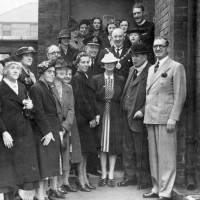 Lord Derby visiting the Naval Hospital Bootle
