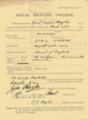 RMC Form 18A Personal Detail Sheets Feb & Sept 1922 Intake - page 73