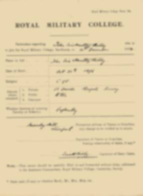 RMC Form 18A Personal Detail Sheets Jan 1915 Intake - page 27
