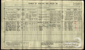 1911 Census - 133 South Park Road, Wimbledon