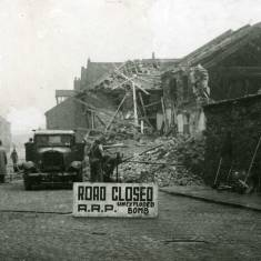 Bomb damage on Commercial Road