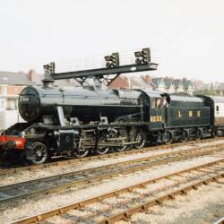 Preserved steam in Hereford Station