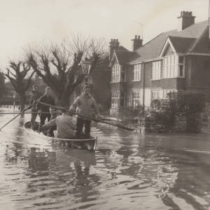 Flooding in Greyfriars Avenue, Hereford.