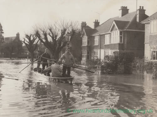 Flooding in Greyfriars Avenue, Hereford