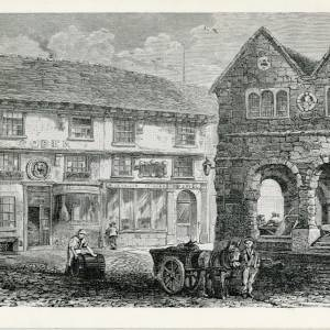 RGE001 - John Kyrle's House and the Market House, Broad Street. Early 19th Century print.jpg