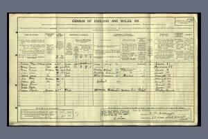 1911 Census for 39 Warren Road, Colliers Wood