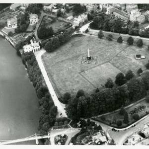 Castle Green, Hereford,  aerial view 1929