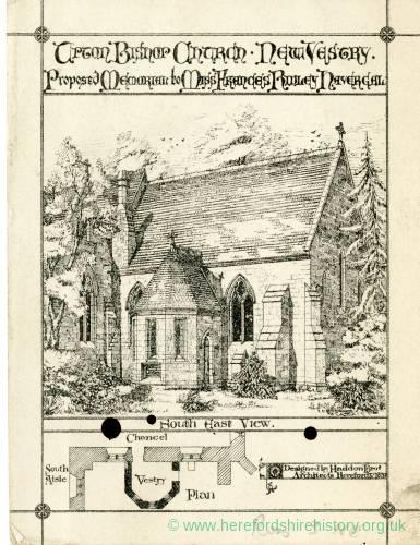 Upton Bishop Church New Vestry