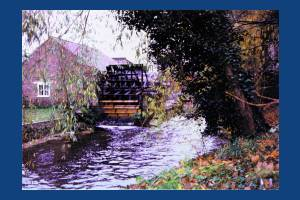 Liberty Print Works, Colliers Wood: View of the waterwheel