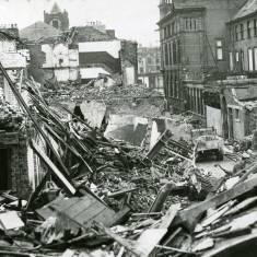 World War II,  Chapter Row bomb damage.