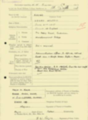 RMC Form 18A Personal Detail Sheets Feb & Sept 1933 Intake - page 270