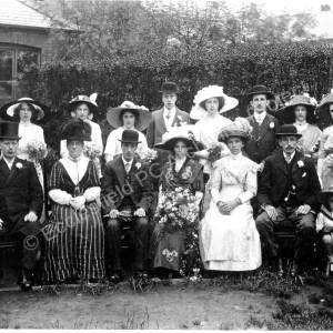Wedding Of Annie Eke & Charles Womersley 13th June 1912 At St Mark's Church Grenoside