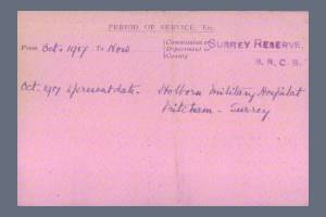 VAD Index Card (Page 2) for Nellie Whittingham