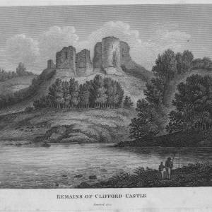 Clifford Castle, Herefordshire, 1809