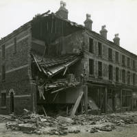 Anglesey Street, bomb damage, Blitz