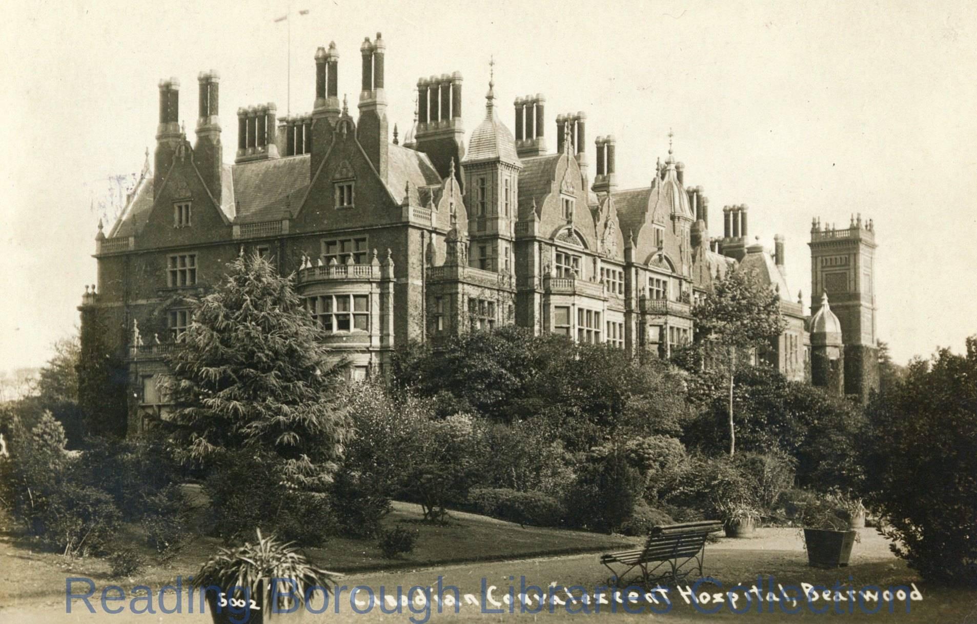 Canadian Convalescent Hospital, the House at Bear wood, Bearwood, 1910-1919.