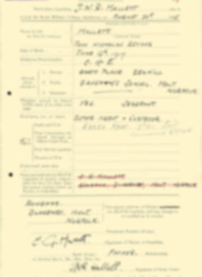 RMC Form 18A Personal Detail Sheets Aug 1935 Intake - page 92